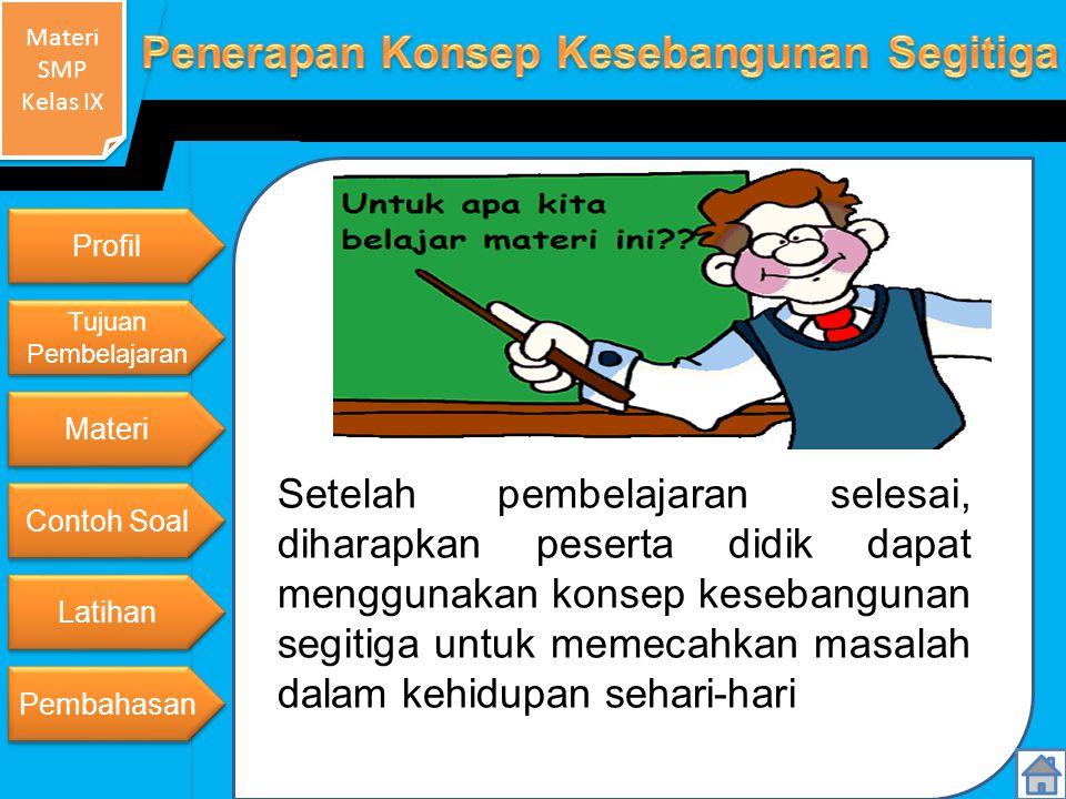 Profil Tujuan Pembelajaran. Materi.