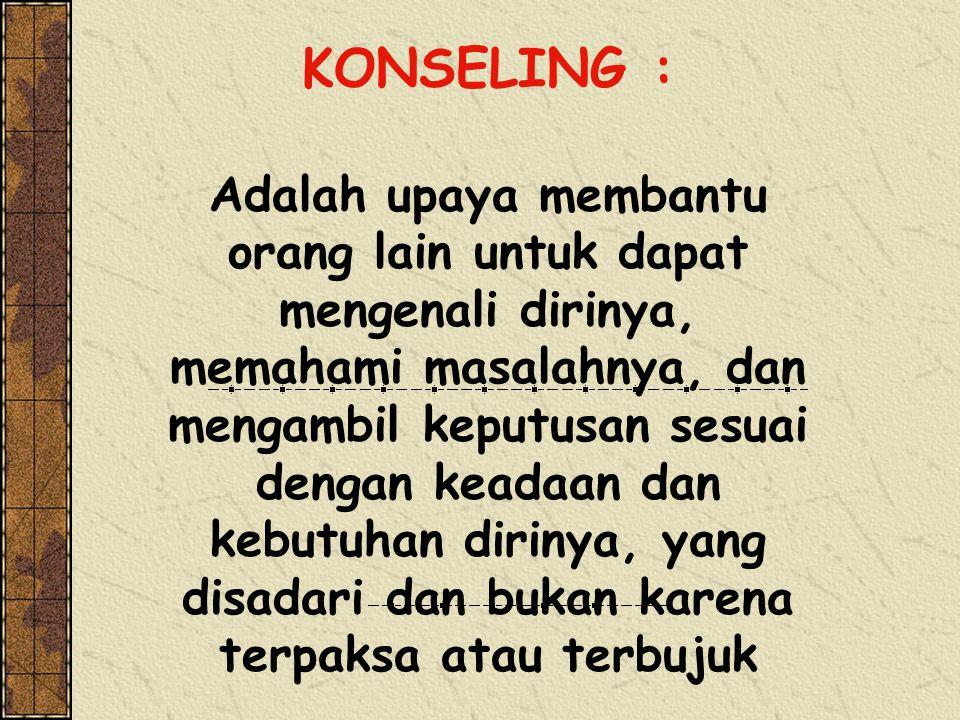 KONSELING :