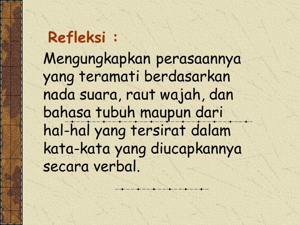 Refleksi :