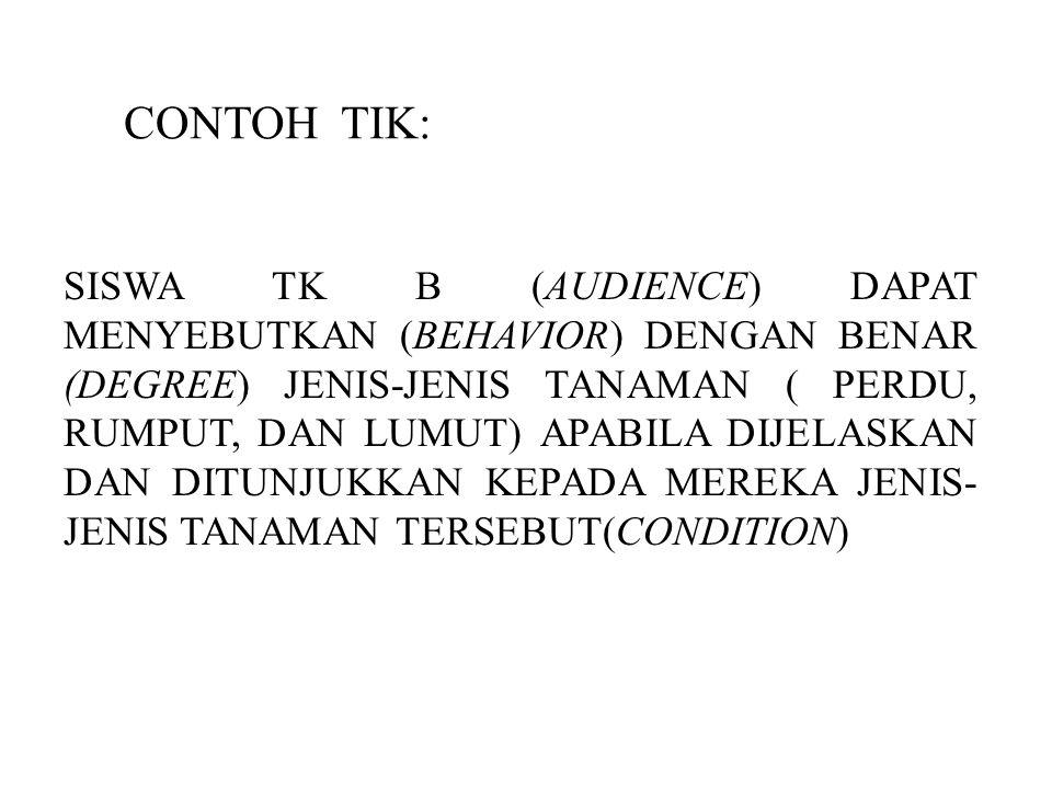 CONTOH TIK: