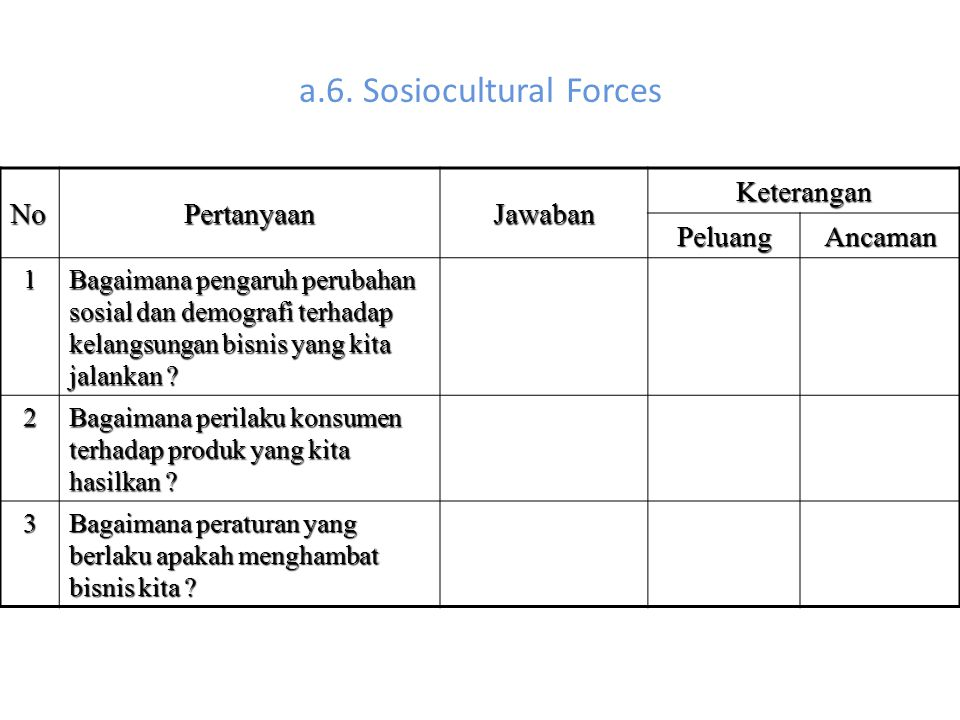 a.6. Sosiocultural Forces