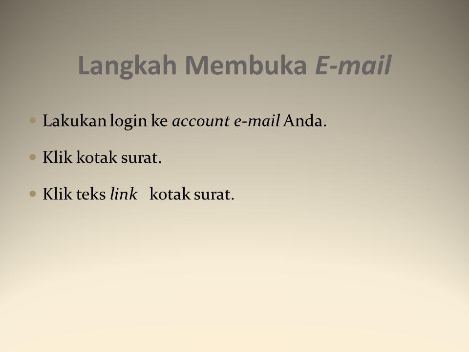 Langkah Membuka E-mail