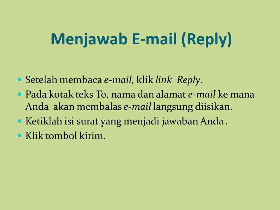 Menjawab E-mail (Reply)