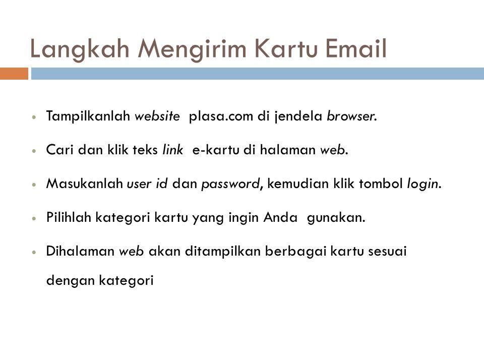 Langkah Mengirim Kartu Email