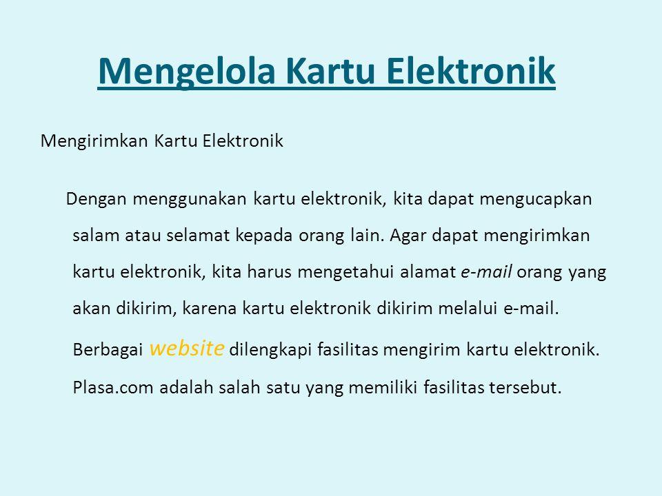 Mengelola Kartu Elektronik