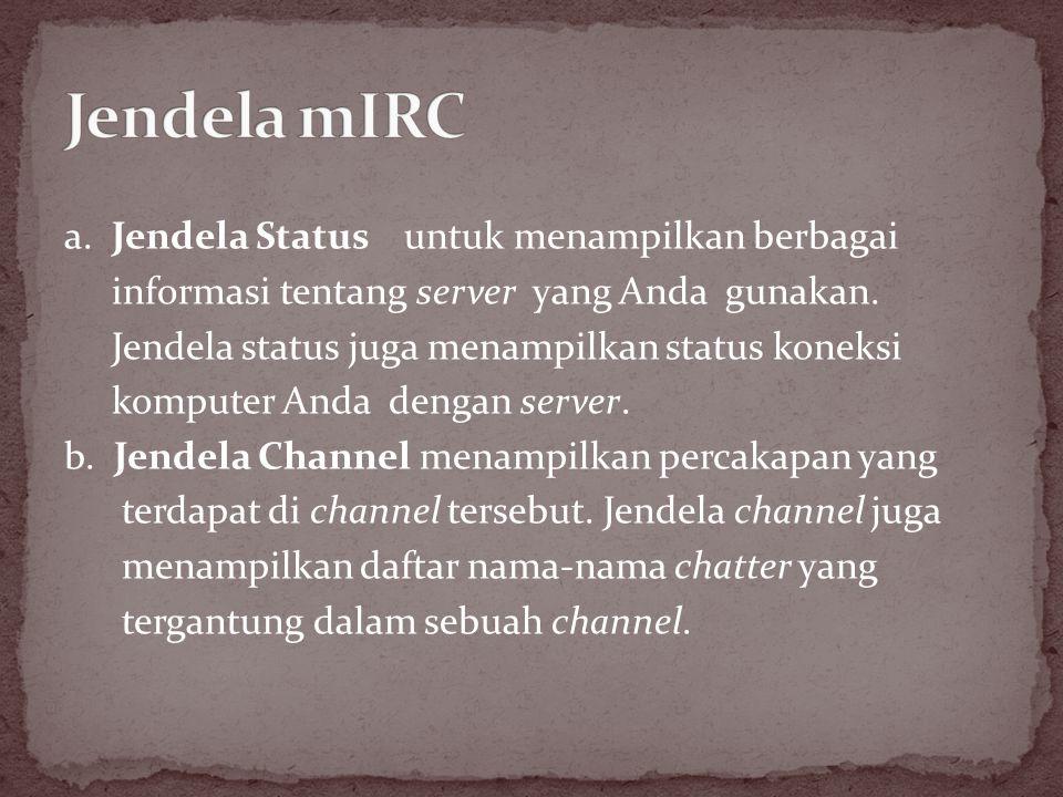 Jendela mIRC