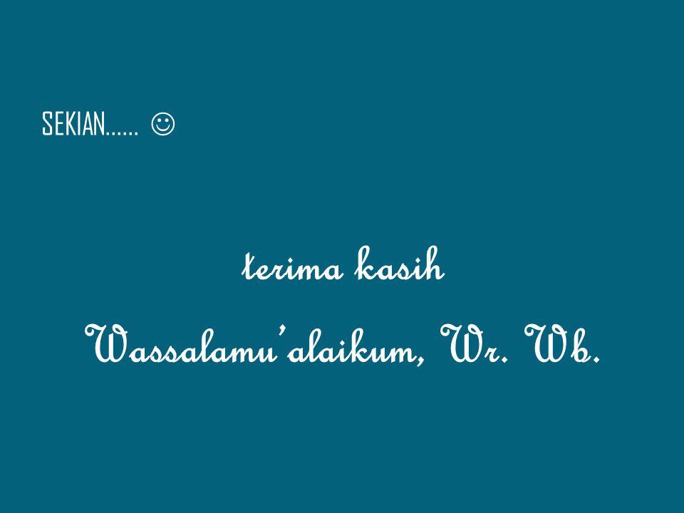 Wassalamu'alaikum, Wr. Wb.
