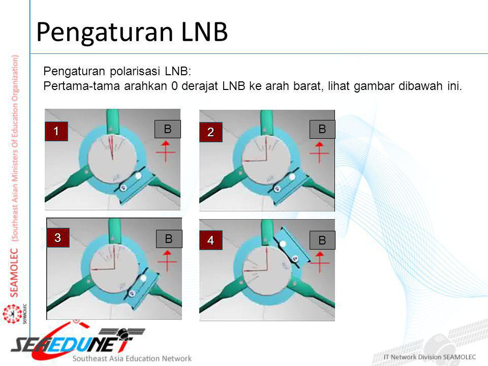 Pengaturan LNB Pengaturan polarisasi LNB: