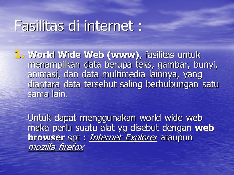Fasilitas di internet :