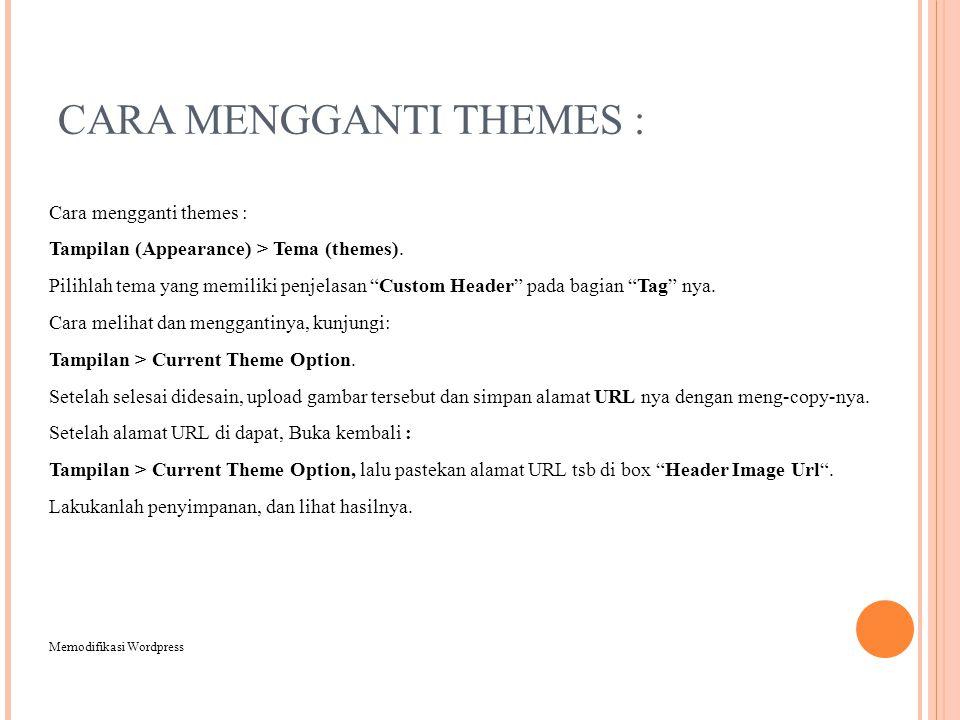 CARA MENGGANTI THEMES :