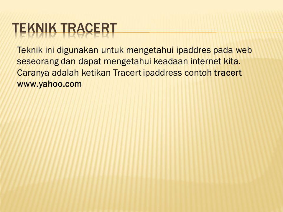 Teknik tracert