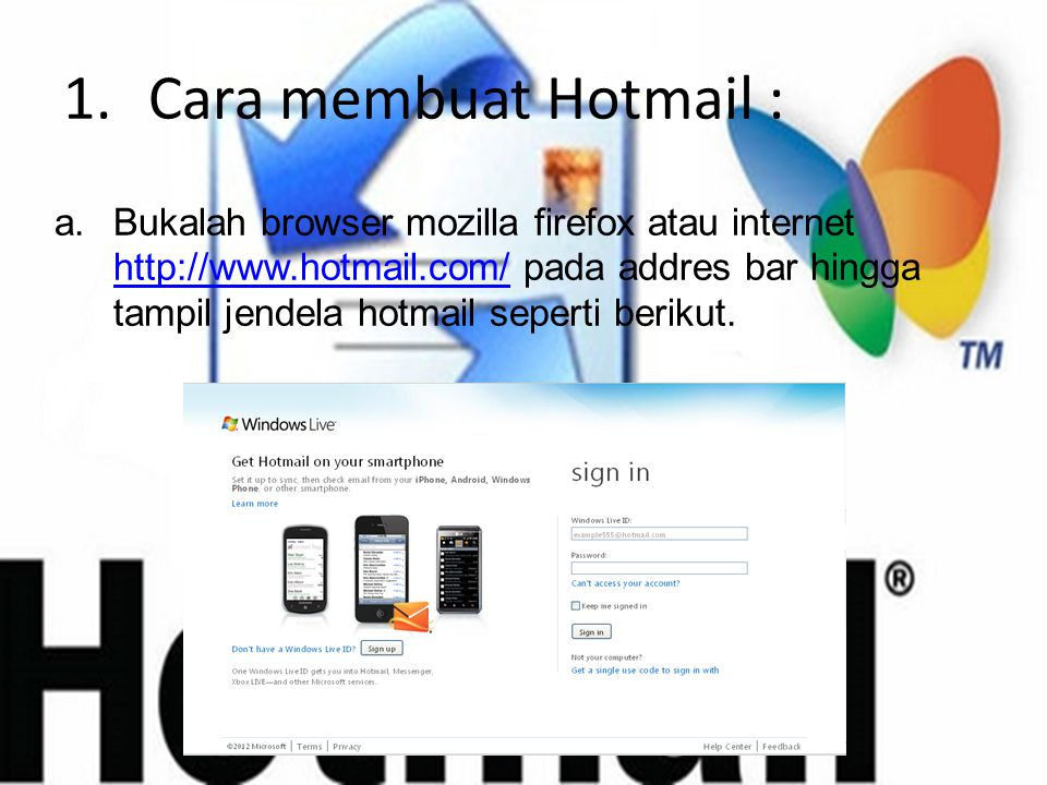 Cara membuat Hotmail :