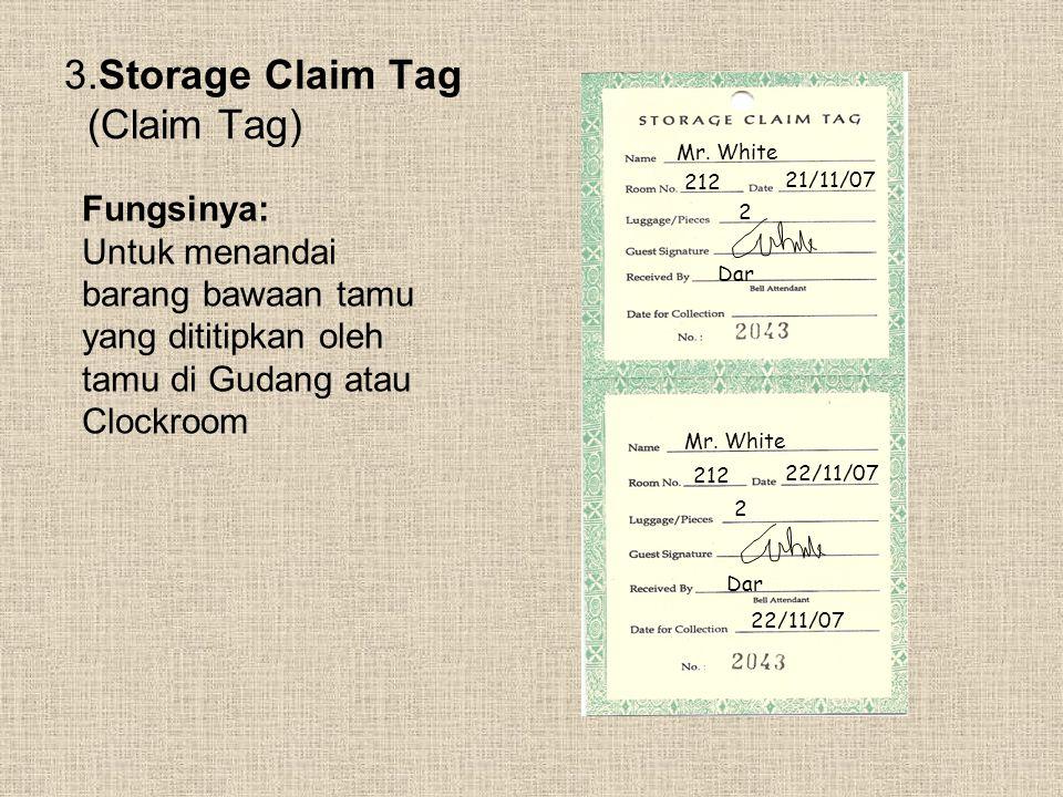 3.Storage Claim Tag (Claim Tag)