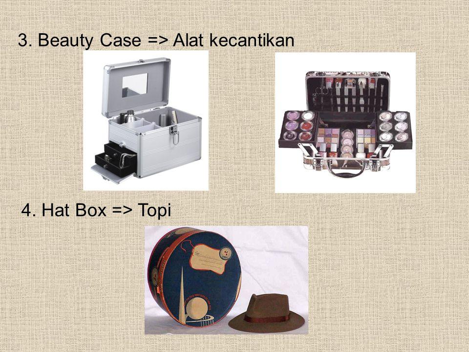 3. Beauty Case => Alat kecantikan