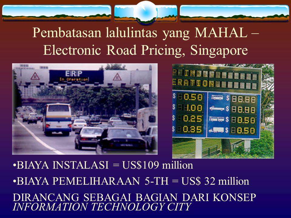 Pembatasan lalulintas yang MAHAL – Electronic Road Pricing, Singapore