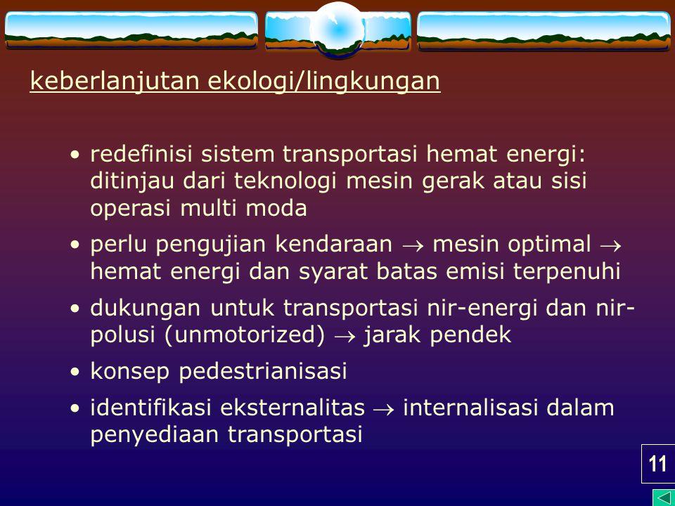 keberlanjutan ekologi/lingkungan