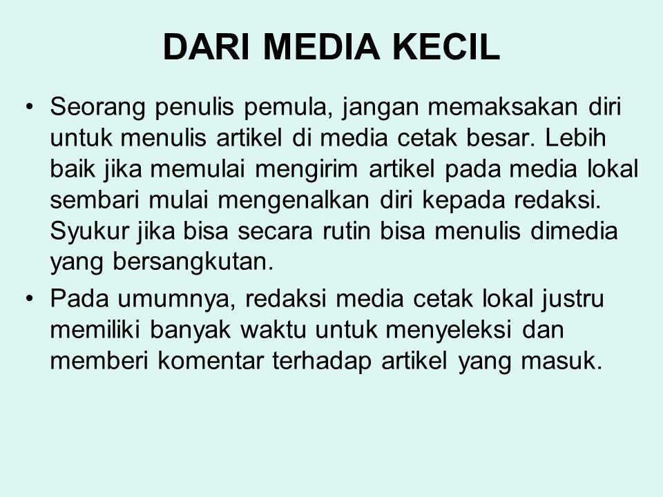 DARI MEDIA KECIL