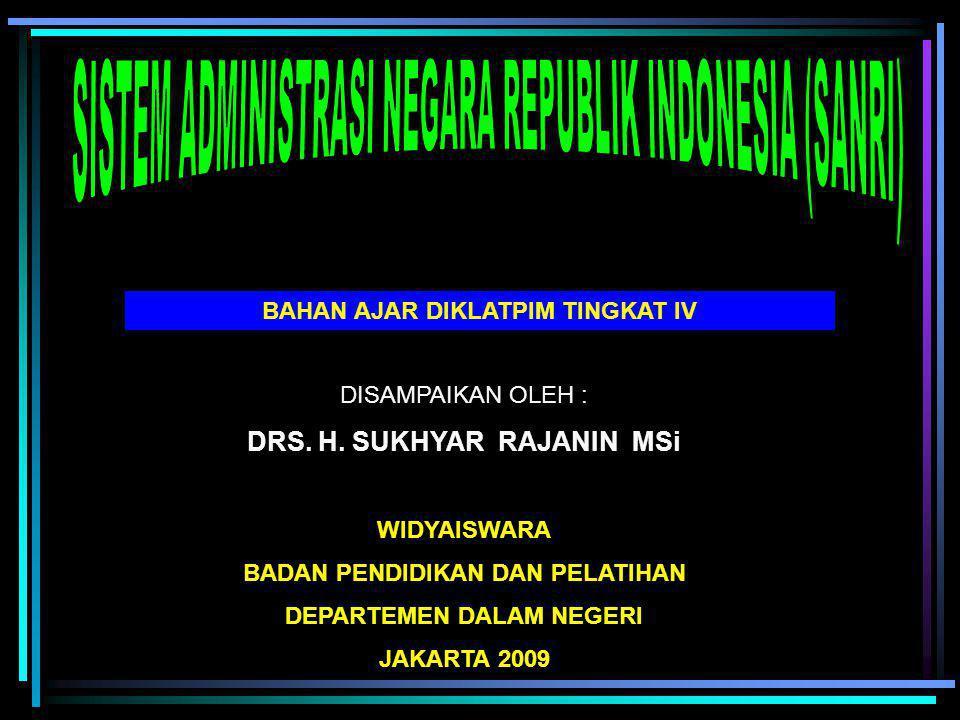 SISTEM ADMINISTRASI NEGARA REPUBLIK INDONESIA (SANRI)