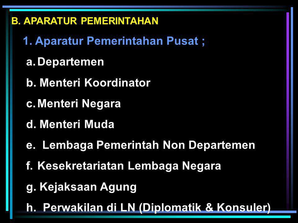 e. Lembaga Pemerintah Non Departemen Kesekretariatan Lembaga Negara