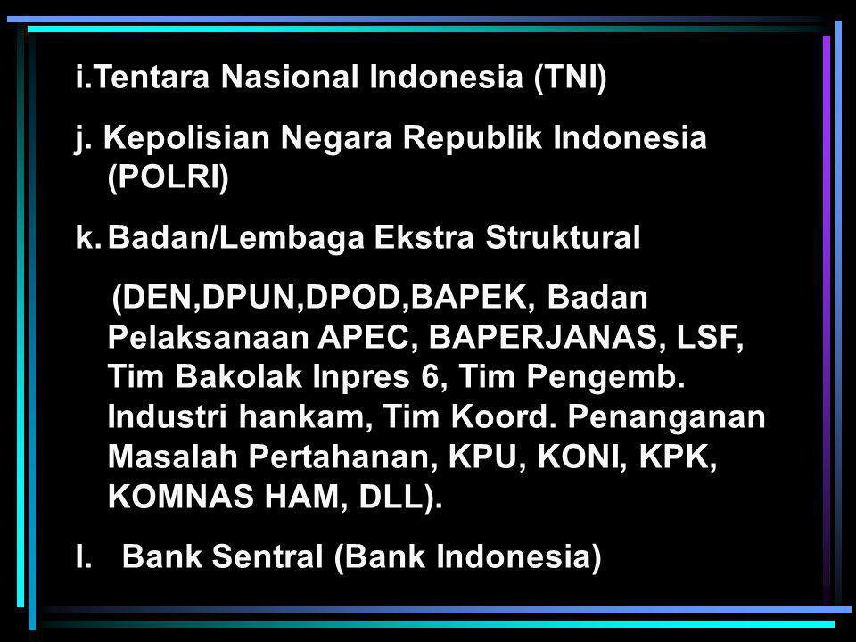 i.Tentara Nasional Indonesia (TNI)