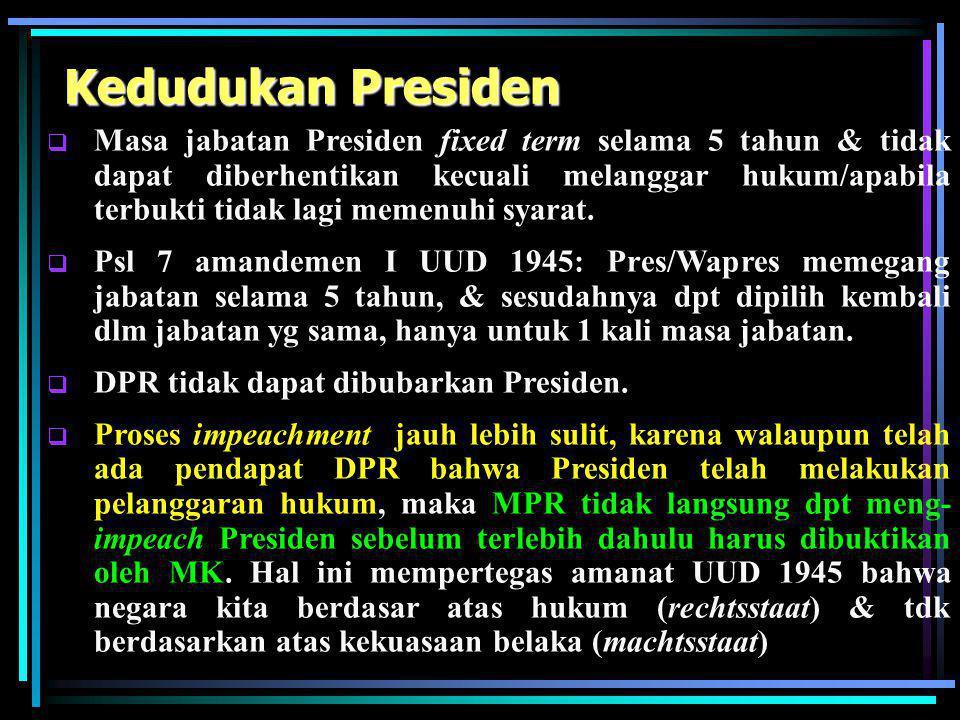 Kedudukan Presiden