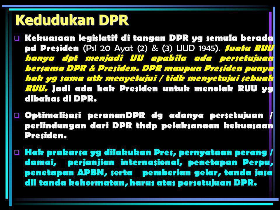 Kedudukan DPR