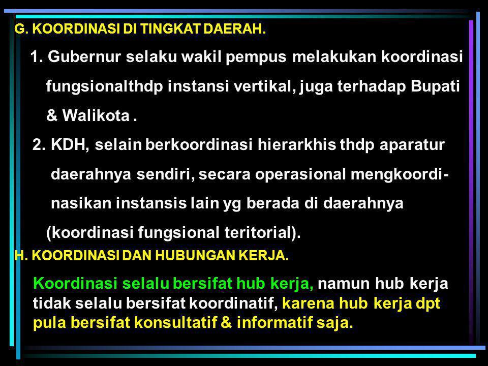 fungsionalthdp instansi vertikal, juga terhadap Bupati & Walikota .