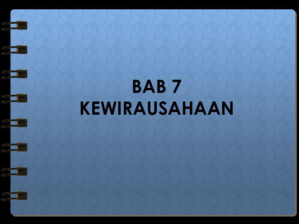 BAB 7 KEWIRAUSAHAAN