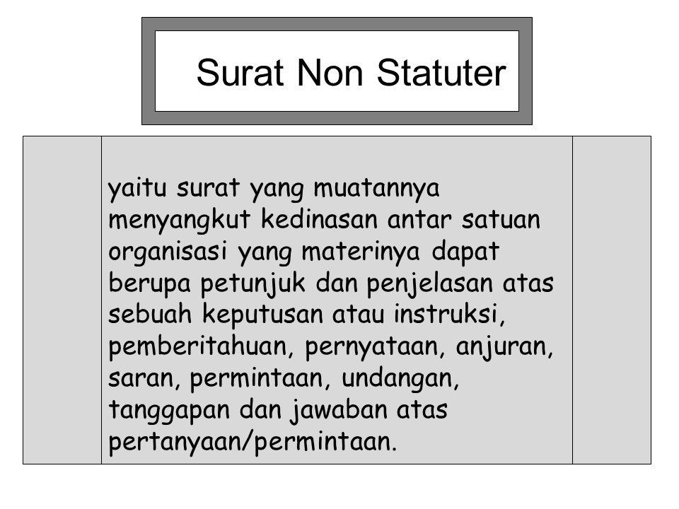 Surat Non Statuter