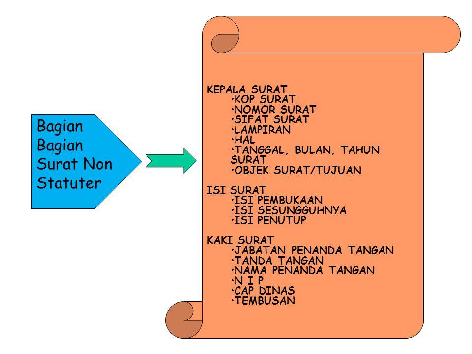 Bagian Bagian Surat Non Statuter
