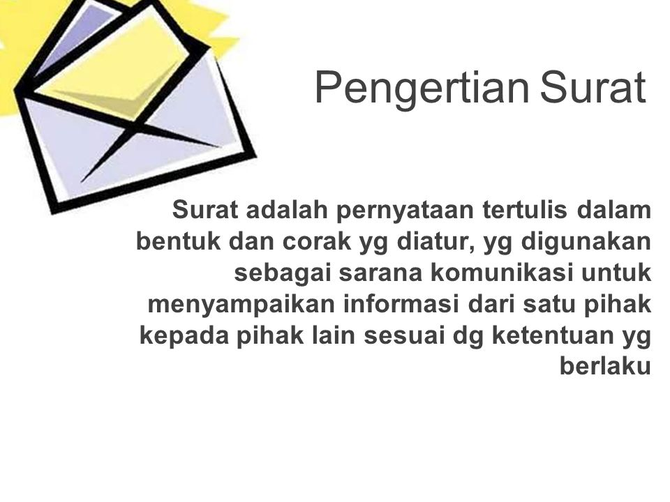 Pengertian Surat
