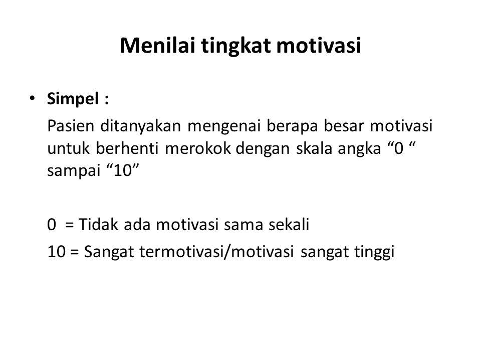 Menilai tingkat motivasi