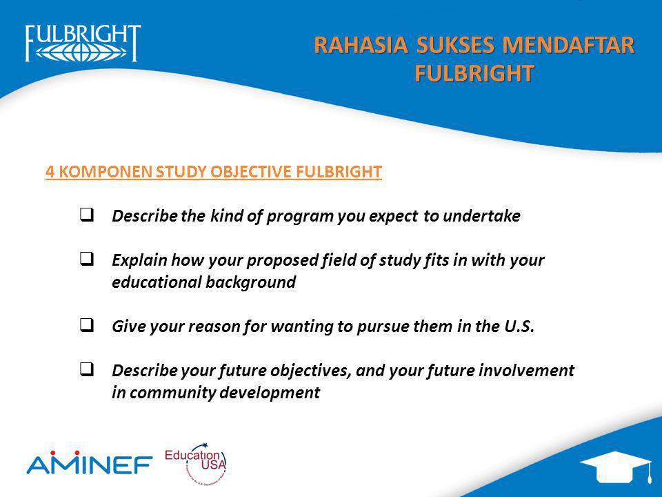 RAHASIA SUKSES MENDAFTAR FULBRIGHT