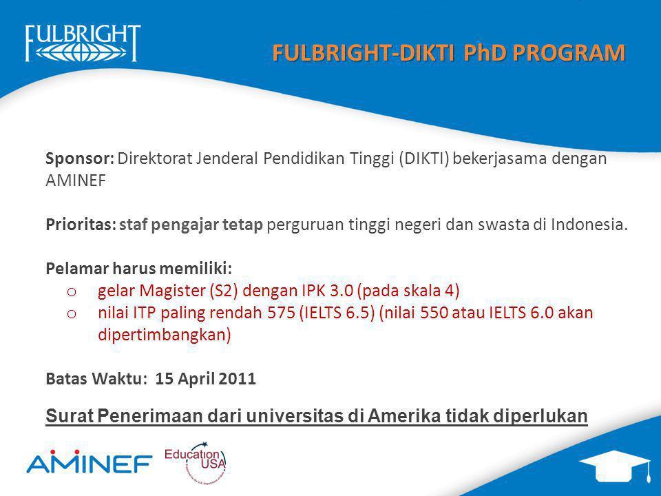 FULBRIGHT-DIKTI PhD PROGRAM