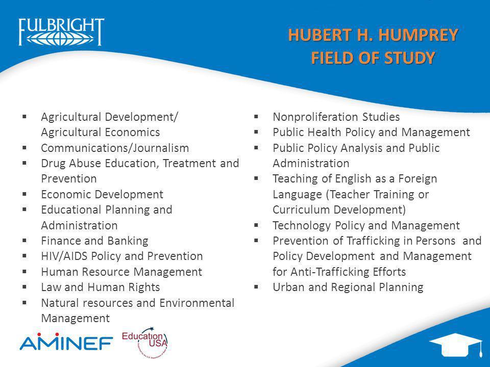 HUBERT H. HUMPREY FIELD OF STUDY