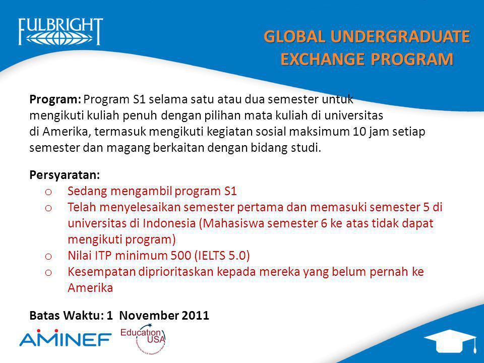 2012 2013 global undergraduate exchange program global