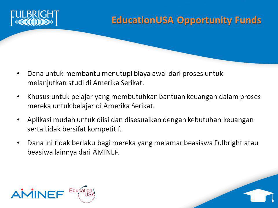 EducationUSA Opportunity Funds
