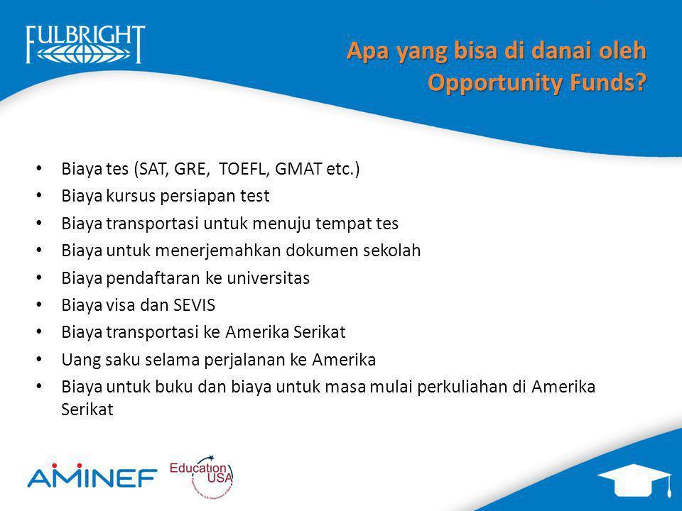 Apa yang bisa di danai oleh Opportunity Funds