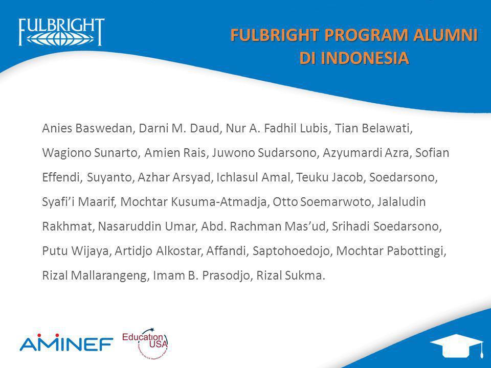 FULBRIGHT PROGRAM ALUMNI DI INDONESIA