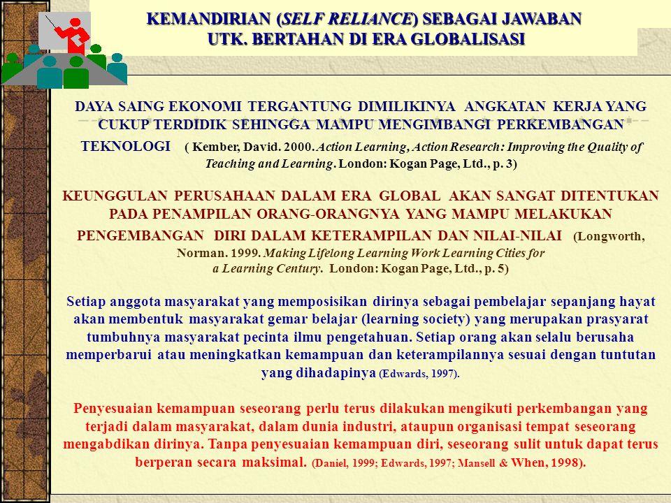KEMANDIRIAN (SELF RELIANCE) SEBAGAI JAWABAN