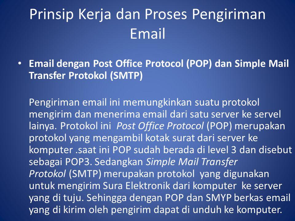 Prinsip Kerja dan Proses Pengiriman Email