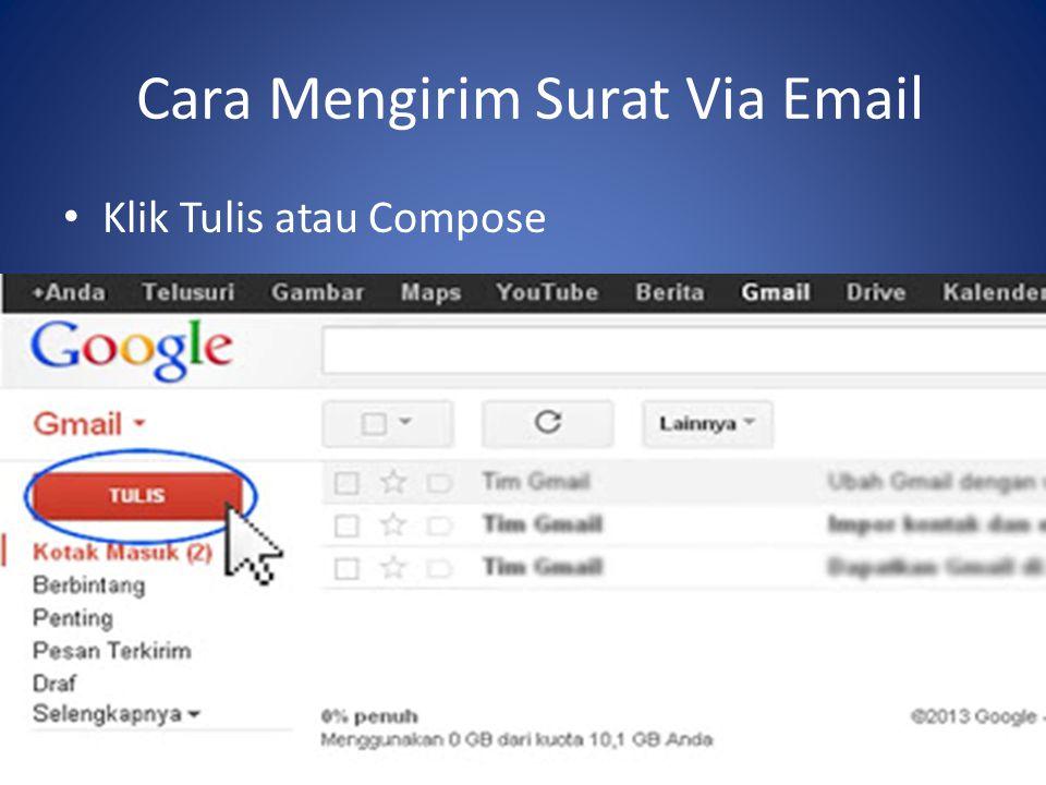 Cara Mengirim Surat Via Email