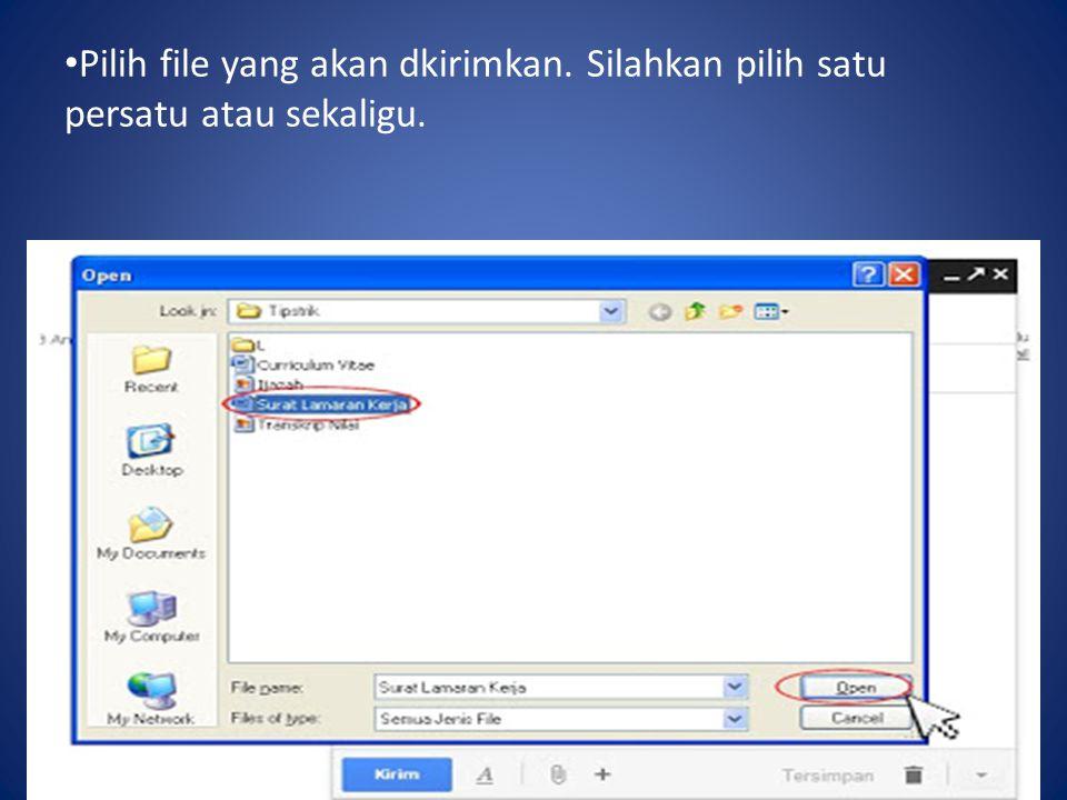 Pilih file yang akan dkirimkan
