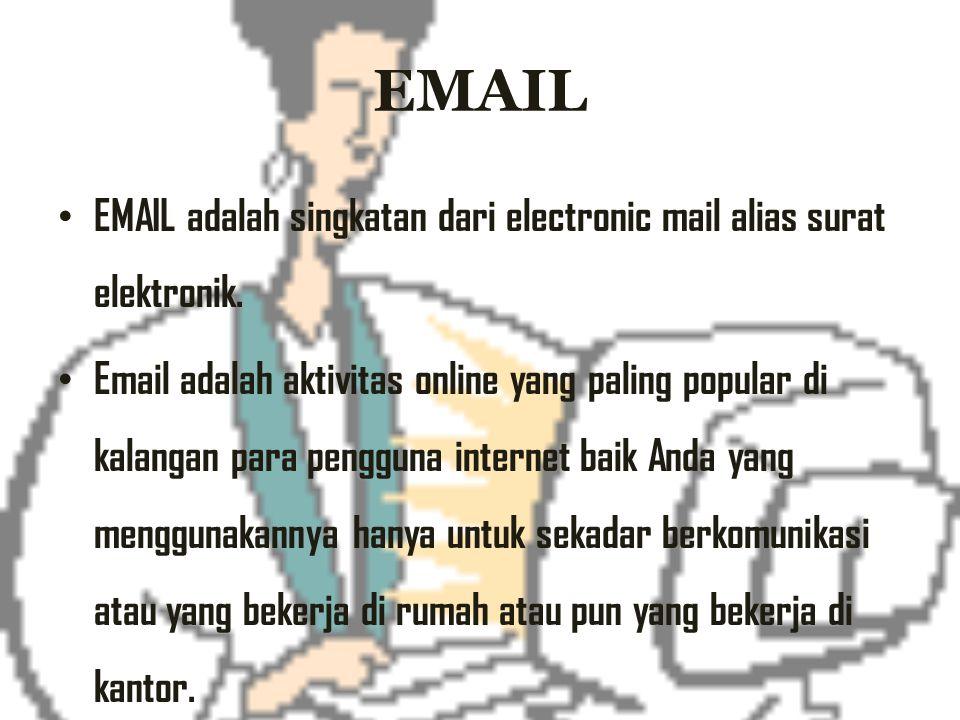 EMAIL EMAIL adalah singkatan dari electronic mail alias surat elektronik.