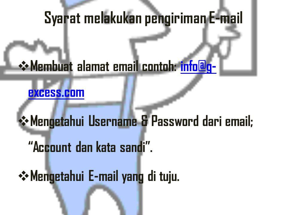 Syarat melakukan pengiriman E-mail