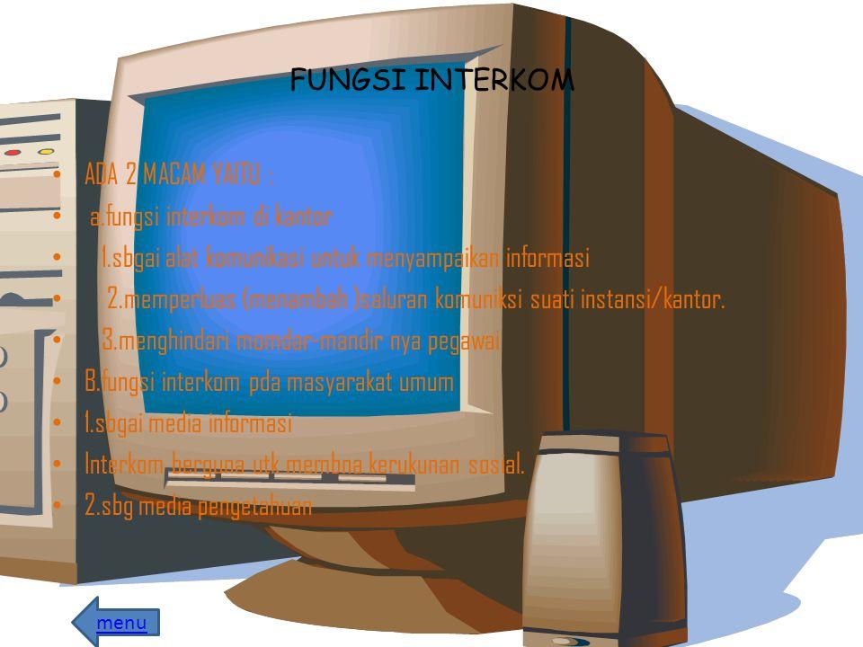 a.fungsi interkom di kantor