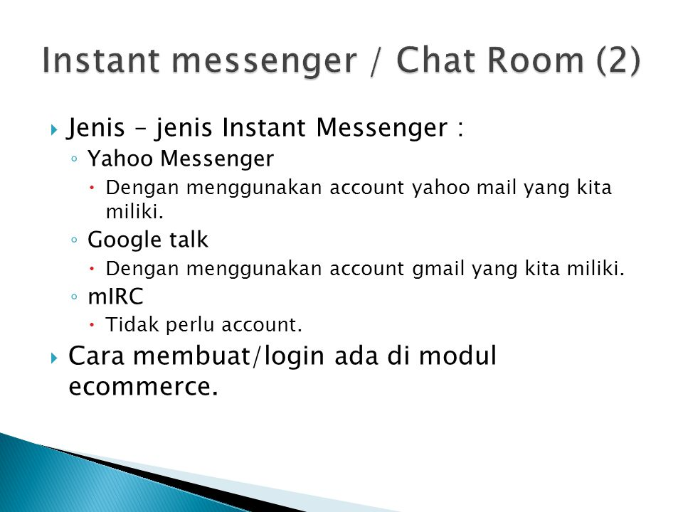 Instant messenger / Chat Room (2)