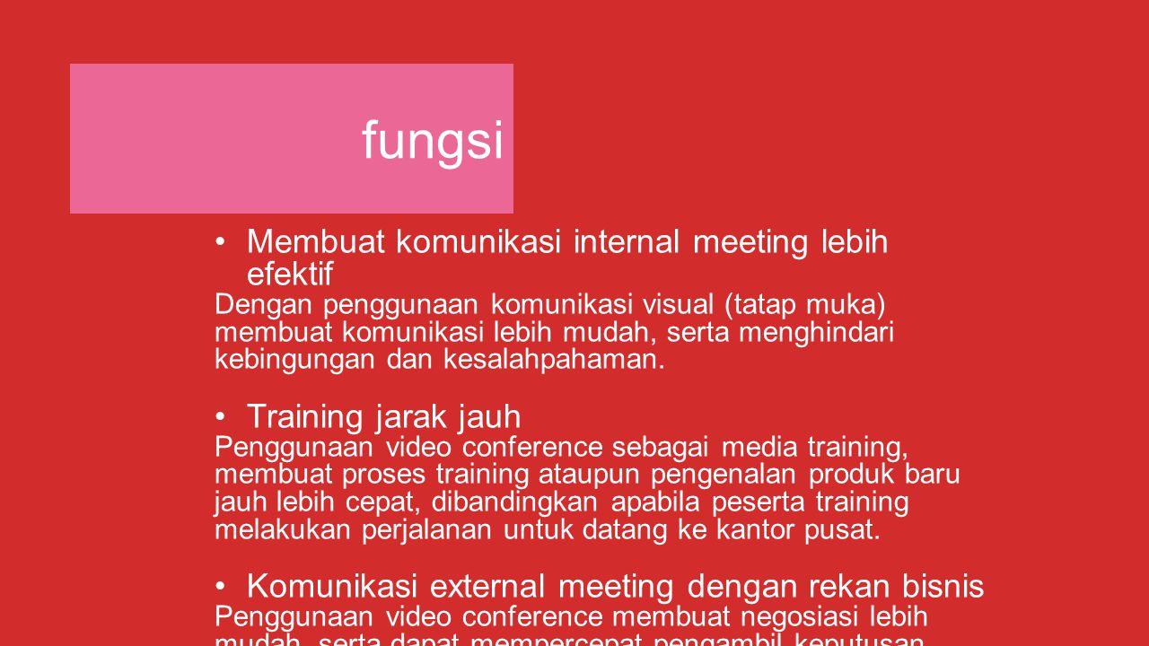 fungsi Membuat komunikasi internal meeting lebih efektif