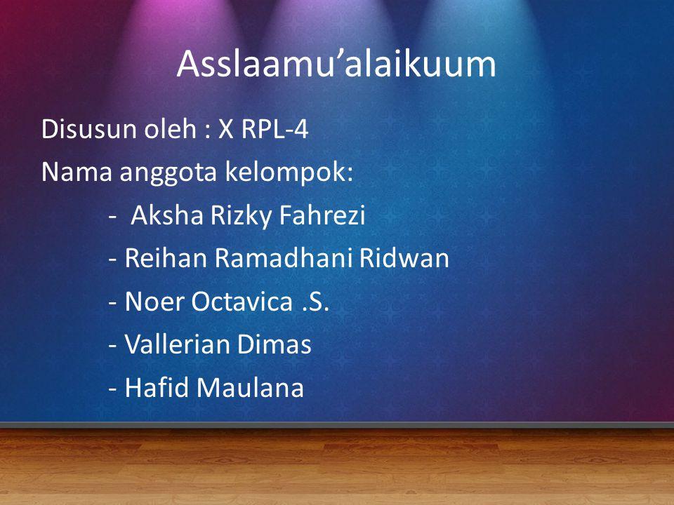 Asslaamu'alaikuum