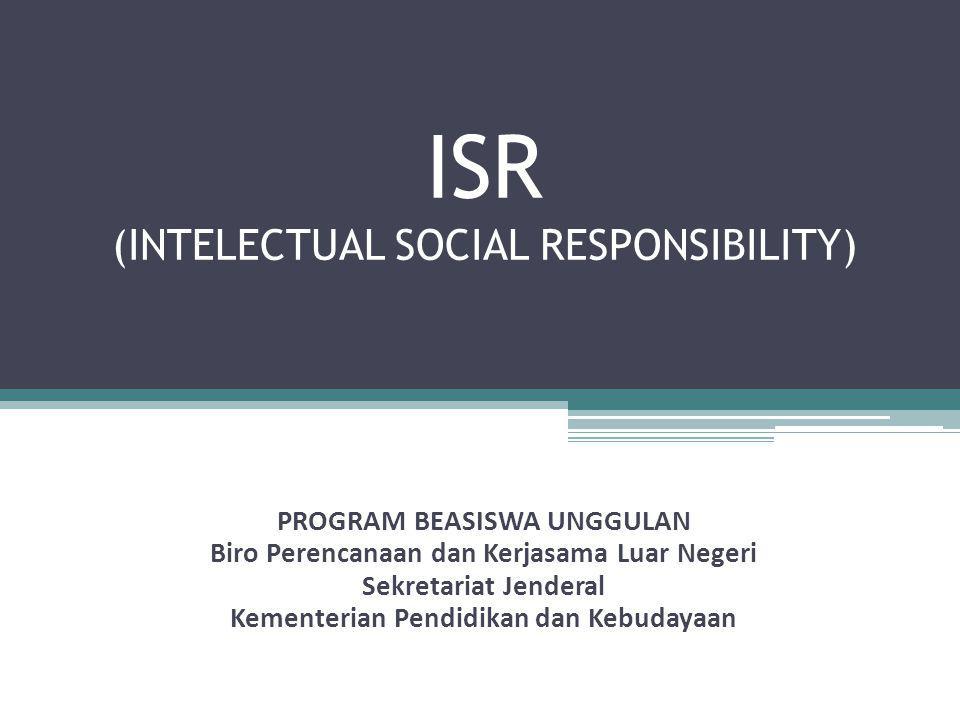 ISR (INTELECTUAL SOCIAL RESPONSIBILITY)